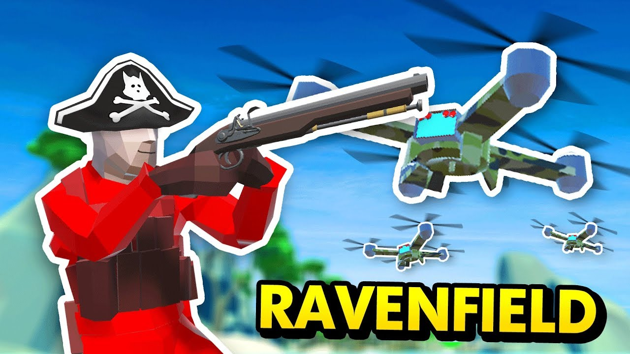 RAVENFIELD PIRATES vs FUTURE DRONES (Ravenfield Funny Gameplay)