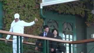 Sachin & Federer at Wimbledon