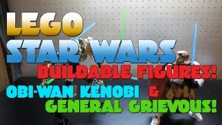 Lego Star Wars Buildable Figures! Obi Wan vs General Grievous!