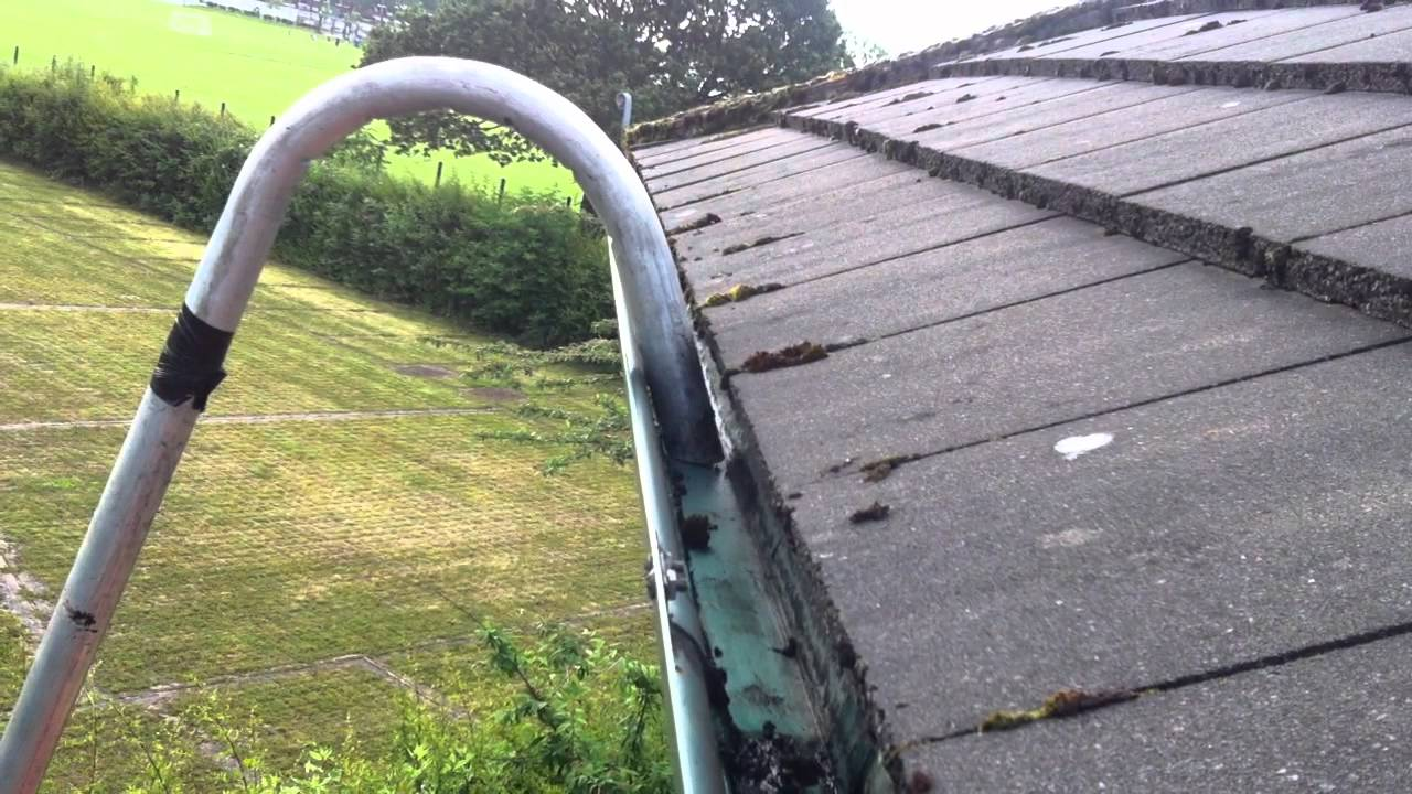 Gutter Vac Cleaning On Commercial Building Youtube