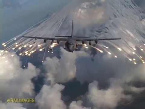 ac 130 flares and firing august 2014 youtube