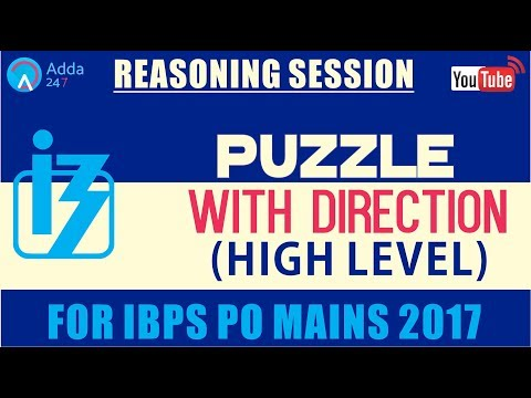 IBPS PO MAINS | Puzzle with Direction (High Level) | Reasoning |  Online Coaching for SBI IBPS