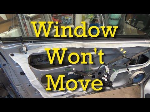 Stuck Power Window Regulators/Window Won't Move (Honda)