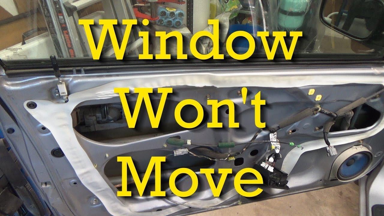 Stuck Power Window Regulators Window Won T Move Honda Youtube