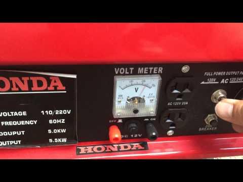 Prueba De Funcionamiento Del Generador De Electricidad A Gasolina thumbnail