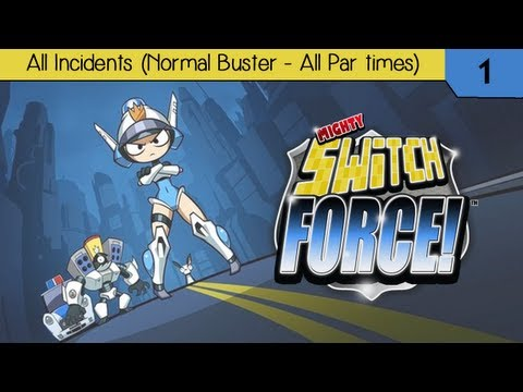 Mighty Switch Force! - All Incidents (Normal Buster - All Par Times)
