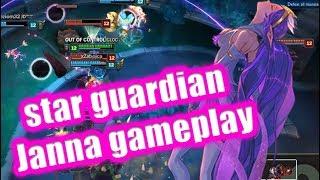 League of Legends star guardian Janna full gameplay