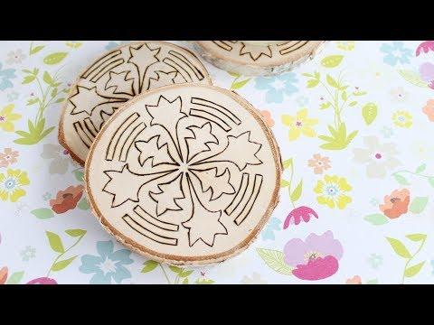 Wood Burning Ideas:  Making Coasters