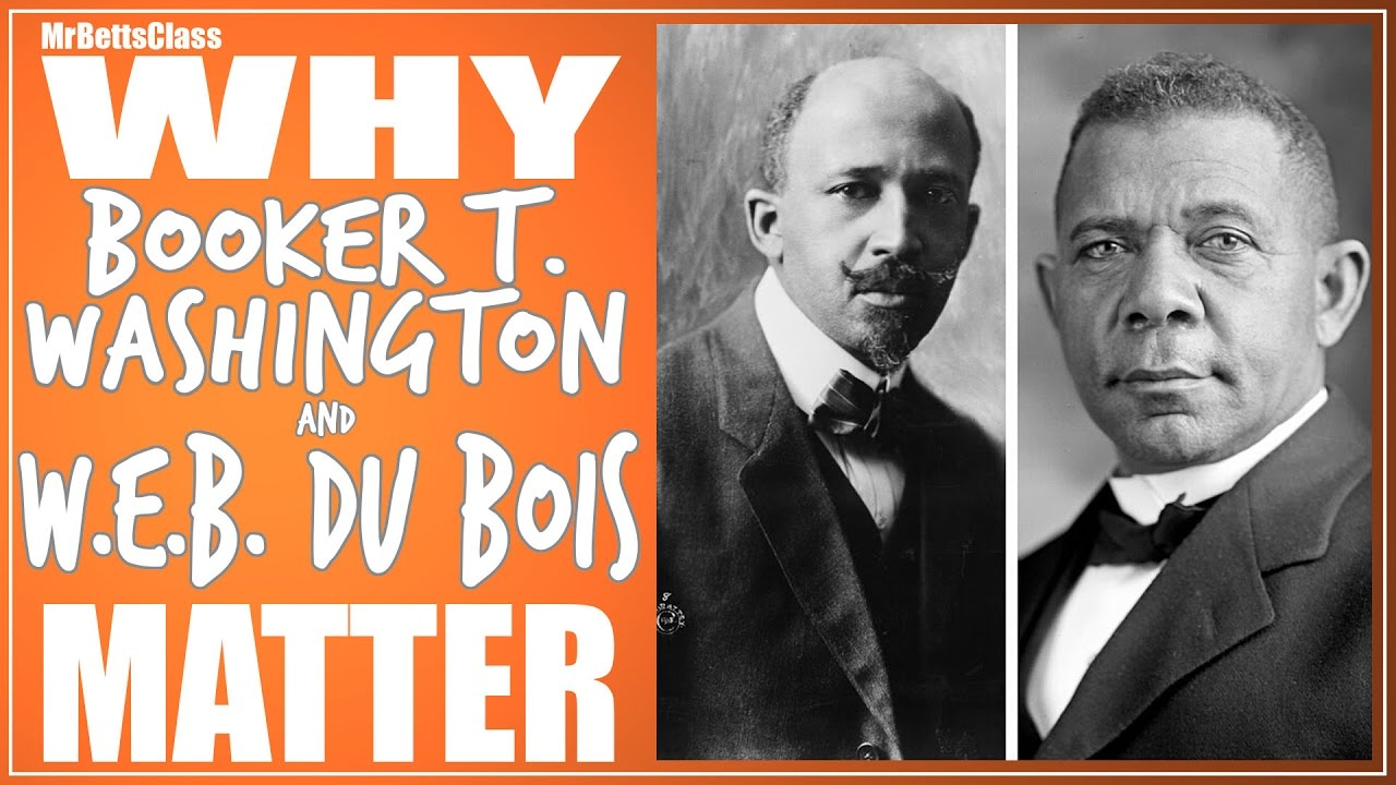 washington vs w e b du bois The shared goals of booker t washington and w e b du bois presented by bertis english, associate professor of history at alabama state university in september 1895, booker t washington burst onto the national stage following the delivery of a short speech at the cotton states and international, or atlanta, exposition.