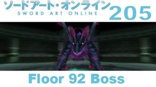 Sword Art Online: Hollow Fragment - PS VITA Walkthrough 205 - Floor 92 Boss