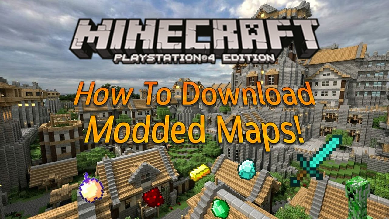 How To Download Modded Minecraft Maps Updated In 2017 PS4