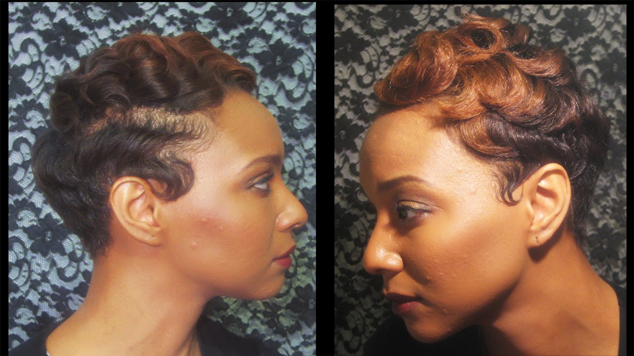How to: watch how I finger wave and curl my short hair - YouTube