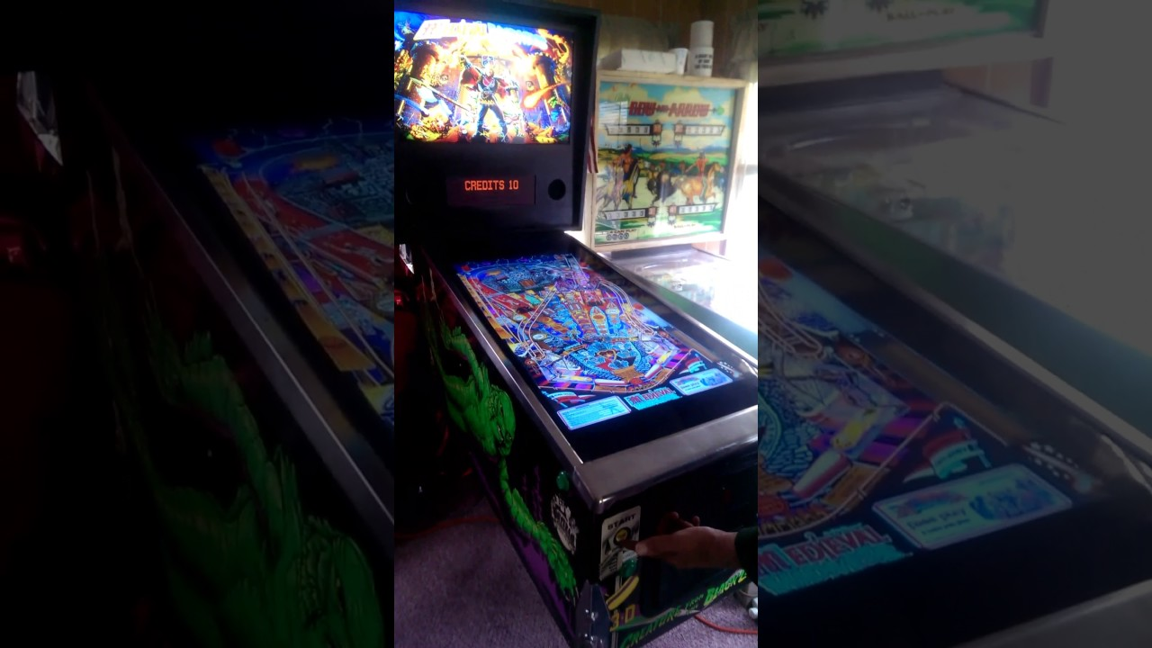 Hyperpin pinball machine operation - YouTube
