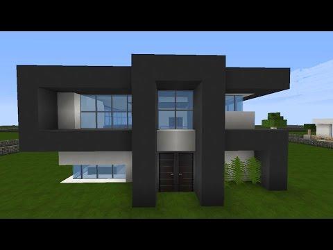 Minecraft modernes Haus Mittwoch - grau/weiß bauen - Tutorial/Anleitung 2016 [deutsch]