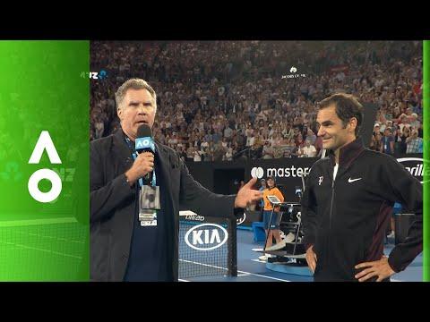 Will Ferrell interviews Roger Federer live on Rod Laver Arena | Australian Open 2018