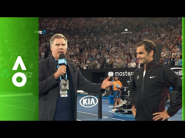 Will Ferrell interviews Roger Federer live on Rod Laver Arena | Australian Open 2018