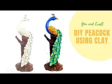 DIY Peacock Using Clay / Home Decor Ideas