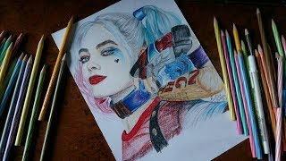 Drawing Harley Quinn(Margot Robbie):Suicide Squad ||Speed Drawing||