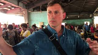 Spirit Comes Through to  Connect with Locals in the Honiara Market