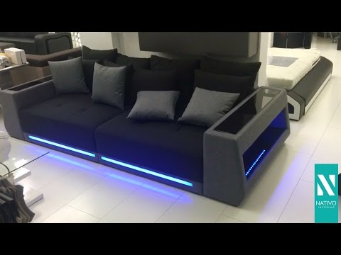 Nativo Möbel Schweiz - BIG Sofa VICE mit LED Beleuchtung
