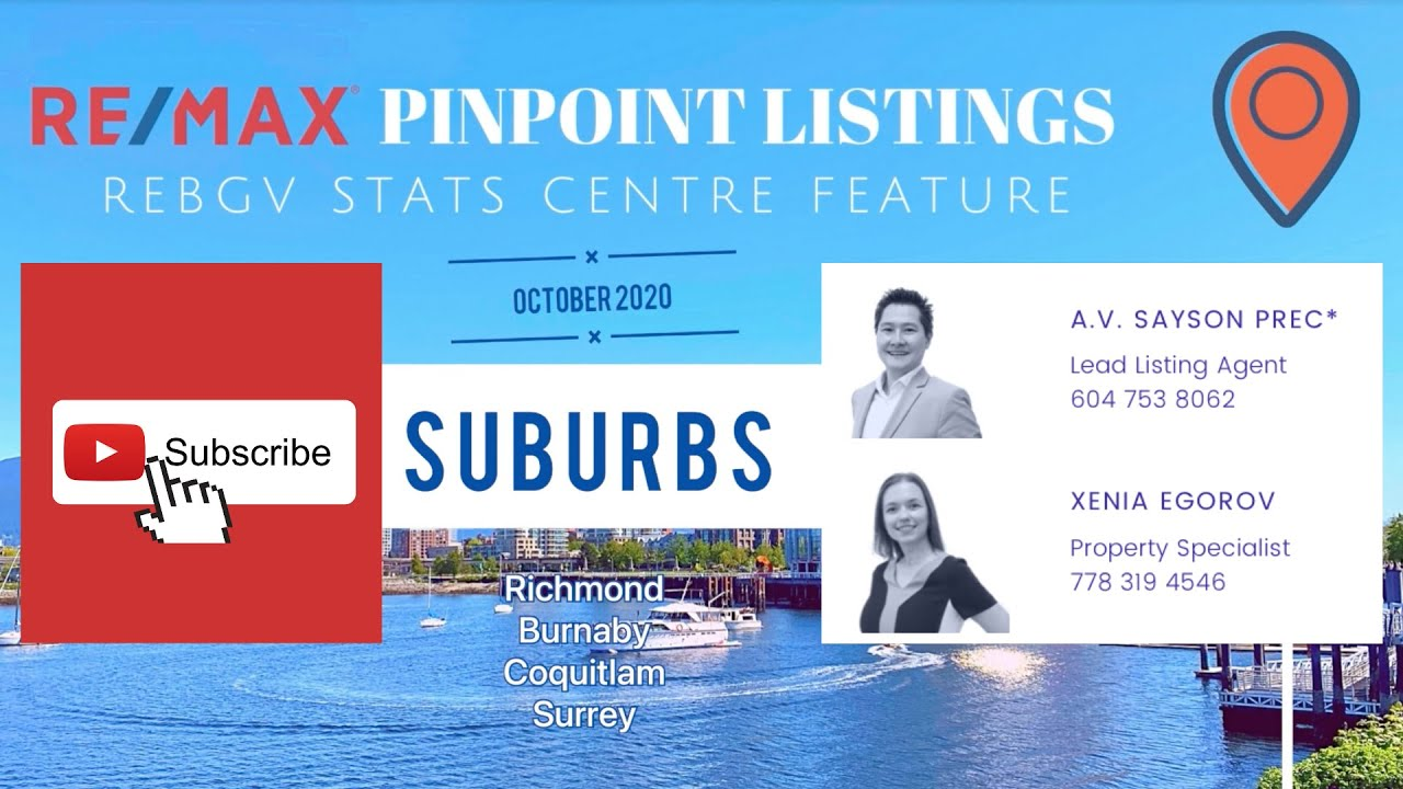 Pinpoint Listings October 2020 REBGV SUBURB Stats Centre Feature Video