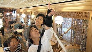 「或る列車」3周年 大分駅で車内見学会