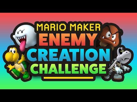 Super Mario Maker - ENEMY CREATION CHALLENGE! - Submit Levels