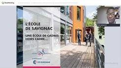 Ecole de Savignac: 'La délocalisation des formations en hospitality management en Afrique'.