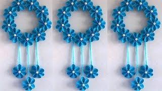 DIY Easy Paper Flower Wall Hanging !!! DIY ROOM DECOR 2019 || Home Decorative Idea
