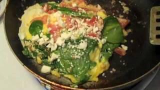 Diet Recipe- Feta And Spinach Scramble Eggs