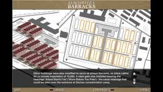 BBC Auschwitz- The Nazis and Final solution map. Extract of Auschwitz camps(I , II and III)