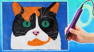 КУКИ с Канала Сливки Шоу Кот или Кошка? Рисую 3D Ручкой