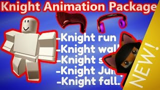 Roblox KNIGHT Animation Package - NEW Animation | SHOWCASE | + Free HATS in Catalog