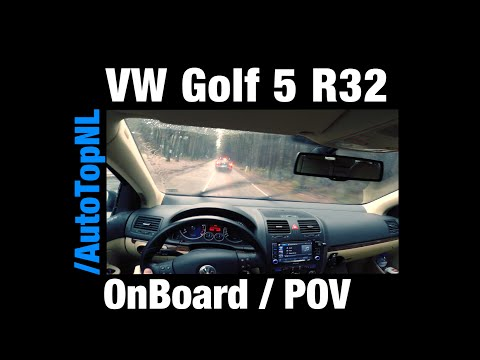 VW Golf 5 R32 w/ Supersprint FAST! OnBoard / POV CHASING! Passat R36