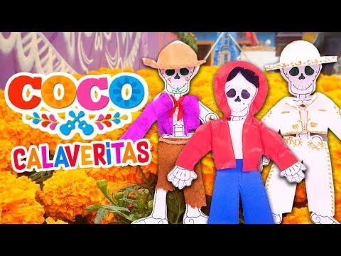 Diy Calaverita Con Los Personajes De Coco Manualidades