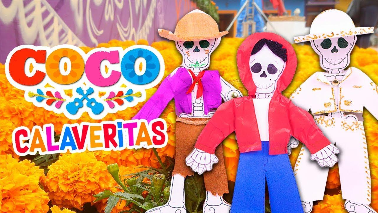 Diy Calaverita Con Los Personajes De Coco Manualidades Fantasticas