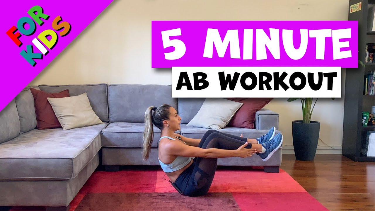 Five day Strong ABS workout for kids - Day 5