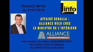 Affaire Banalla : Alliance reçu chez le Ministre de l'intérieur.
