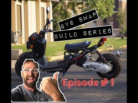 GY6 Ruckus Build Series: EPISODE 1 (Wheel mod, short axle, & exhaust install)
