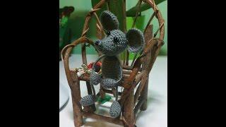 Мышка вязаная крючком мастер класс.amigurumi crochet mouse