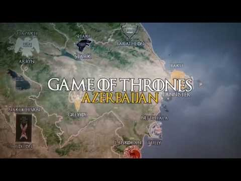Game of Thrones - Azerbaijan Map