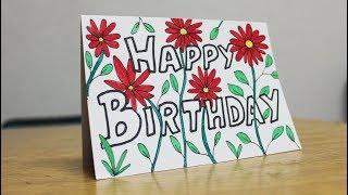 Beautiful Birthday Card for Mom - Handmade Card Design Ideas