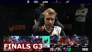 Fnatic Vs G2 ESports Game 3 Finals S9 LEC Summer 2019 Playoffs FNC Vs G2 G3