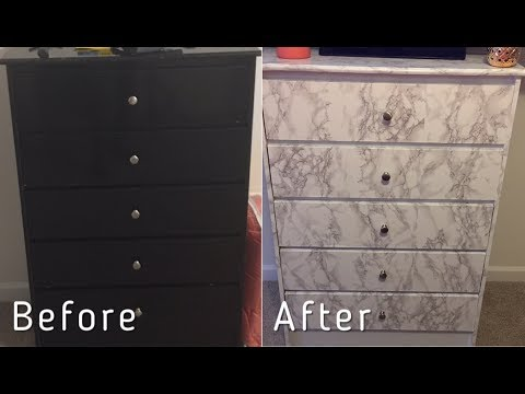 Under $25 Marble Chest Transformation| DIY