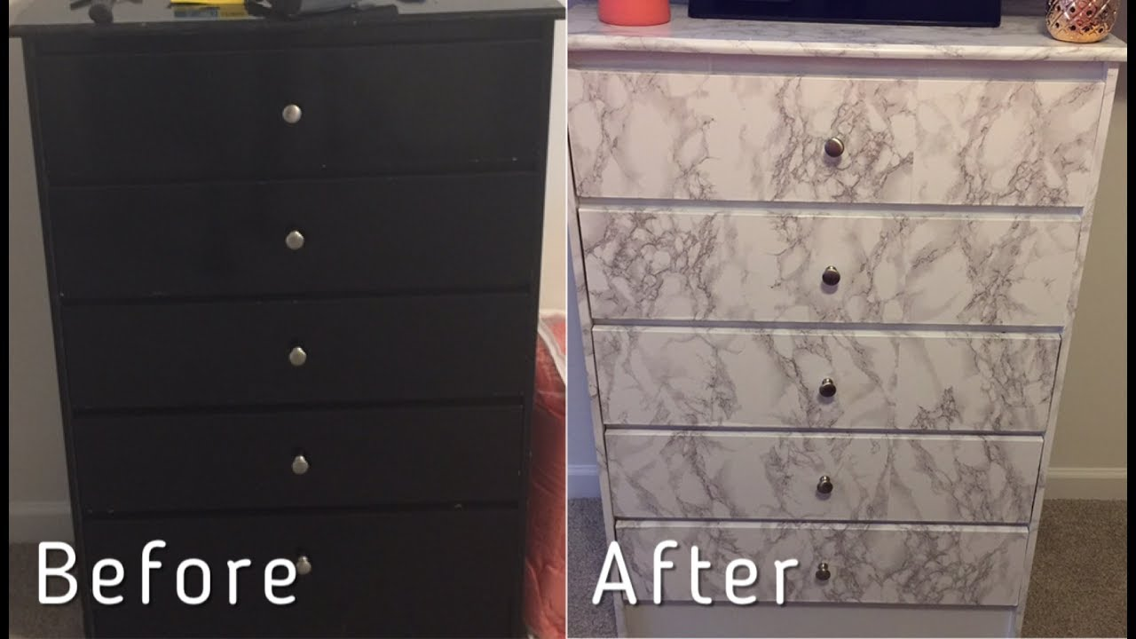 Contact Paper For Furniture Under 25 Marble Chest Transformation Diy