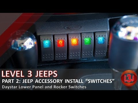 Part 2: Wiring Jeep Accessories - Daystar Lower Panel and Switches Daystar Switch Wiring Diagram on