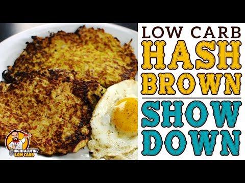 Low Carb HASH BROWN SHOWDOWN! Cauliflower vs. Radish vs. Turnip vs Spaghetti Squash - Keto Hashbrown