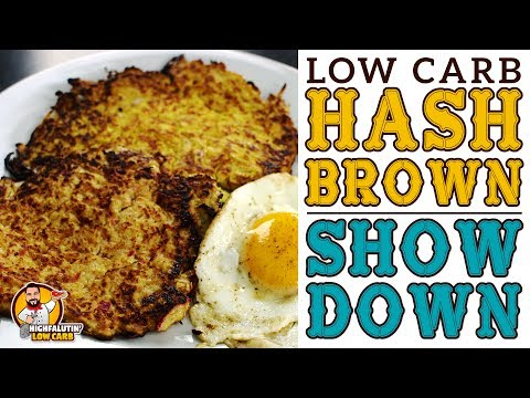 Low Carb HASH BROWN SHOWDOWN! Cauliflower vs. Radish vs. Turnip vs Spaghetti Squash - Keto Hashbrown