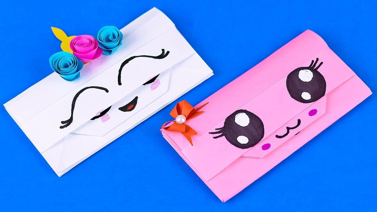 Как сделать Кошелек из Бумаги своими руками? Органайзер для канцелярии | Origami Paper Handbag