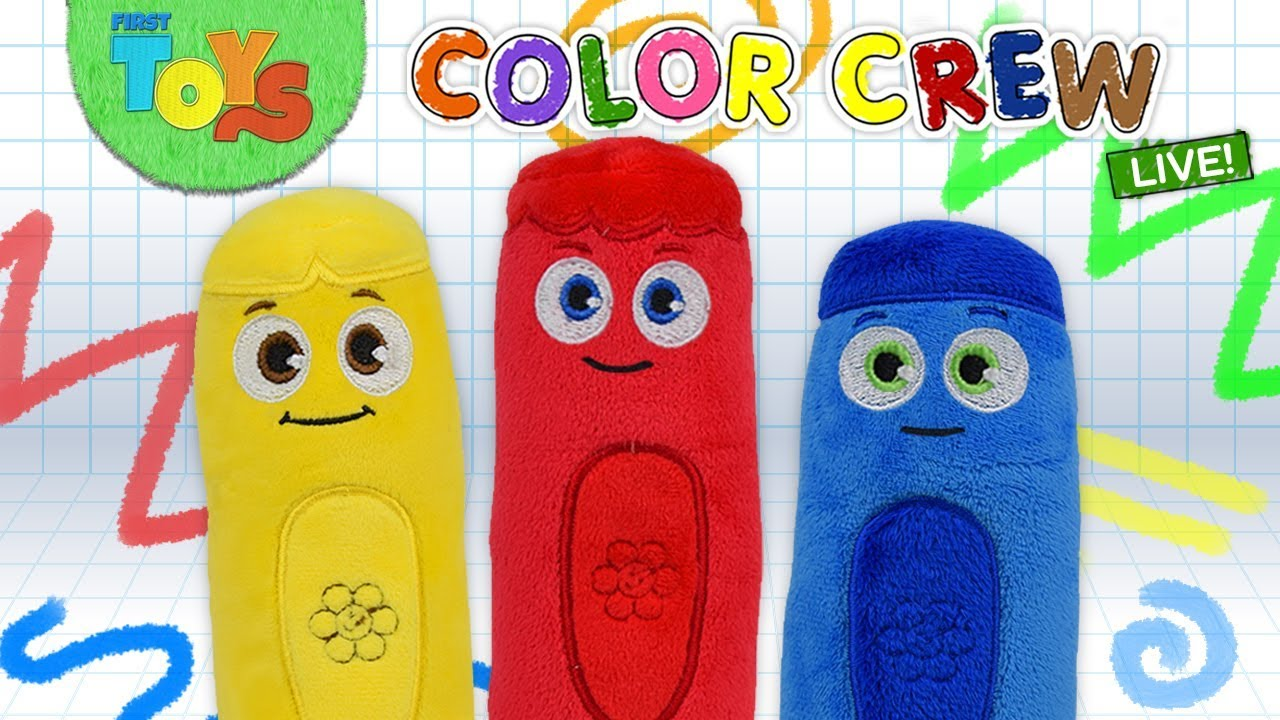 Pretend Play Toys And Colors With Color Crew Live Funny